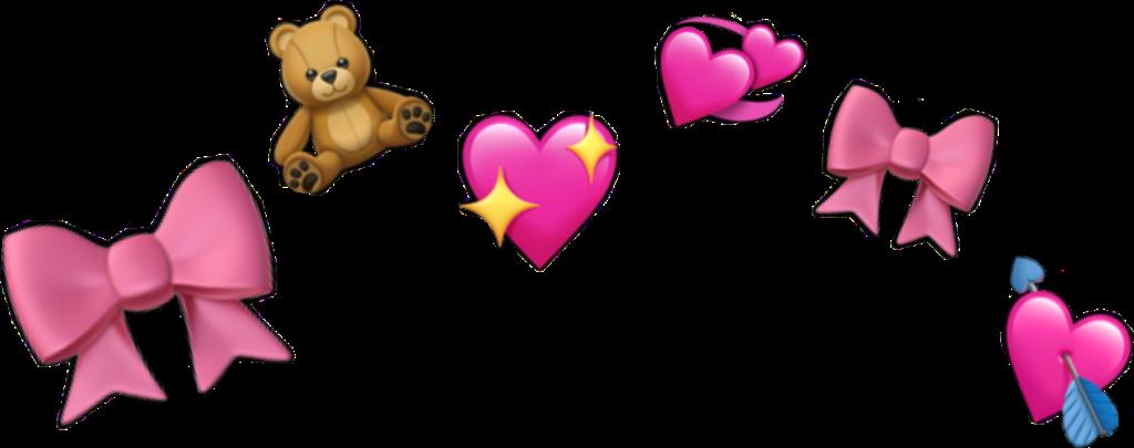 heart crown emoji cute filter freetoedit
