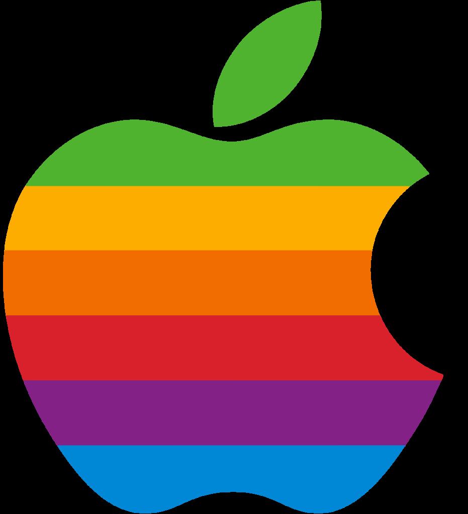 Rainbow Apple logo Logo Brands For Free HD 3D