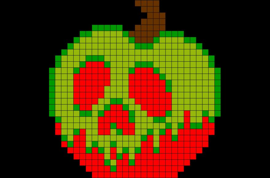 Snow White Poisoned Apple Pixel Art  BRIK