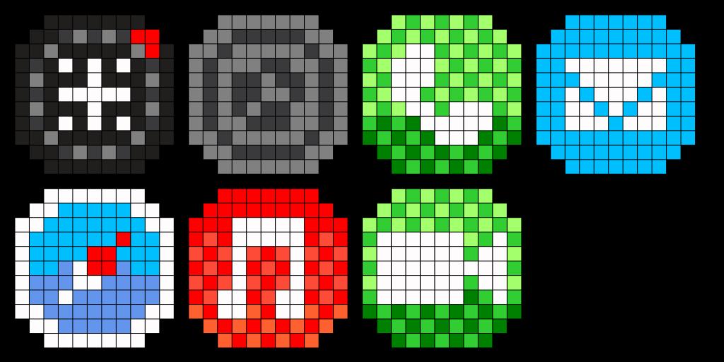 iPhone Apps Perler Bead Pattern  Modele pixel art Dessin