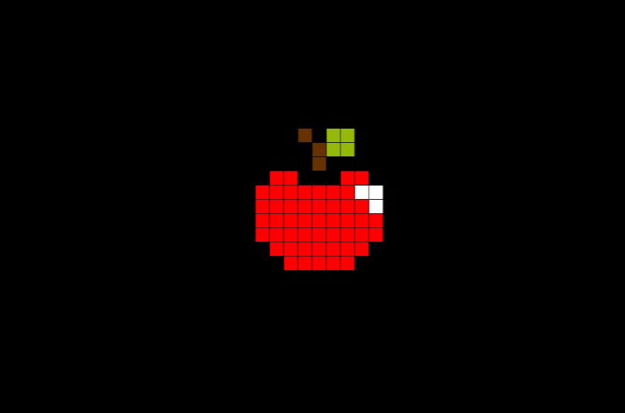 Apple Pixel Art  Pixel art Art Apple chart