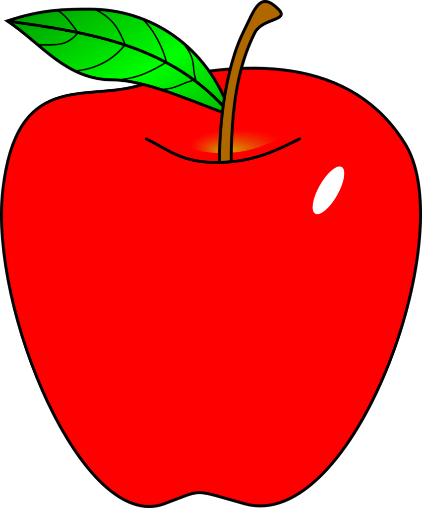 Library of teacher apple cartoon png black and white stock