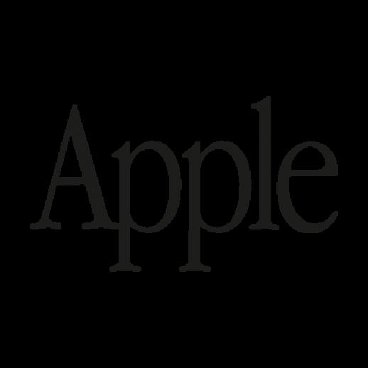Apple text logo Vector  AI PDF  Free Graphics download