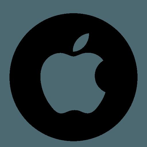 White Transparent Apple Logo  LogoDix