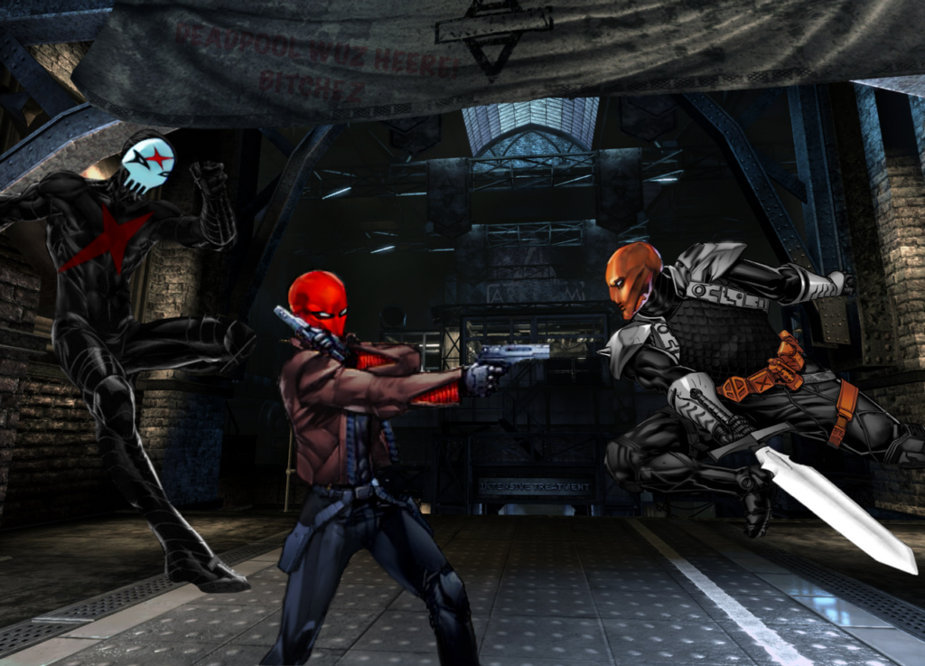 Red Hood VS DeathStroke VS Red X by TonyAntwonio on
