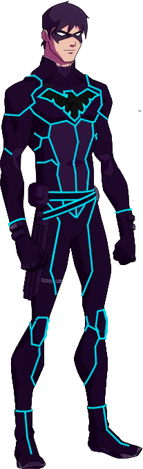 Tron Young Justice Nightwing by rxlthunder  Geekalicious