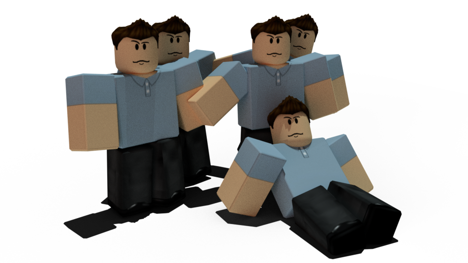 Imported my ROBLOX character into a rendering app Its