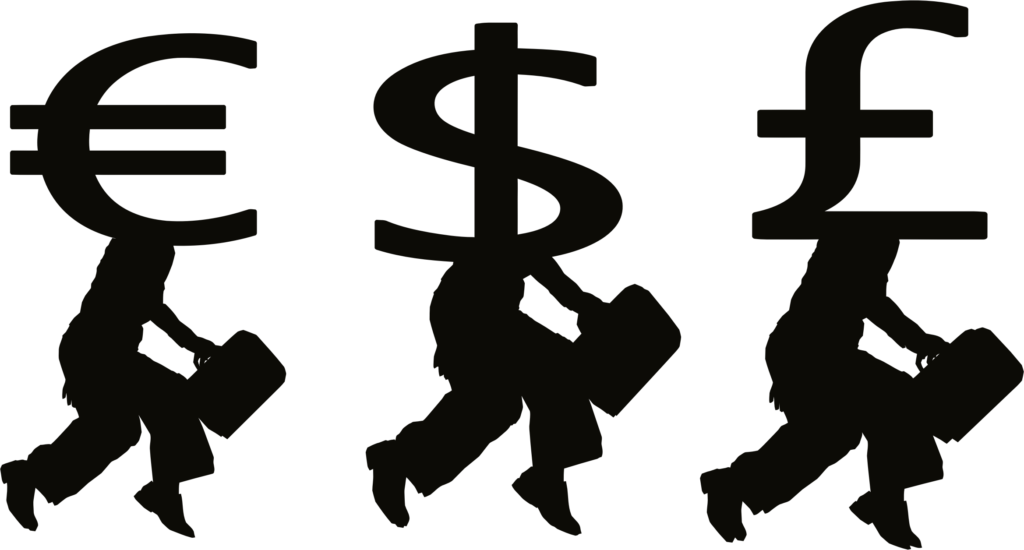 Library of pile of money image transparent download black