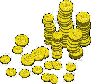 Coins Money clip art Free Vector  4Vector