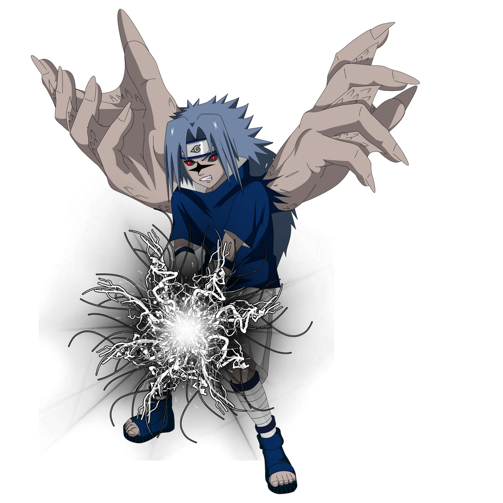 Sasuke Curse Seal 2 Render  chidori black by lwisf3rxd on
