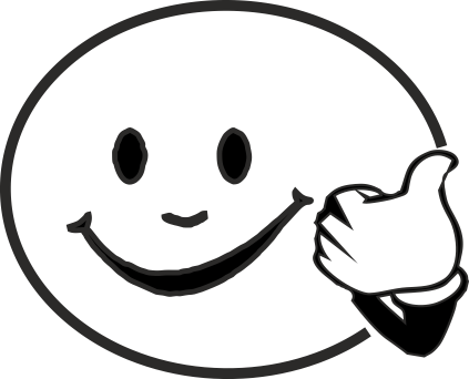 Smiley Face With Thumb Up  Free download on ClipArtMag