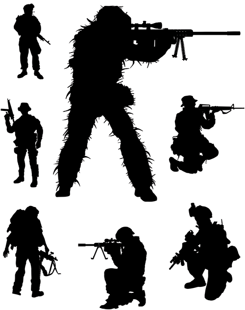 Soldier Military Army men - Soldier png download - 500*632 ... - Black Soldier Silhouette