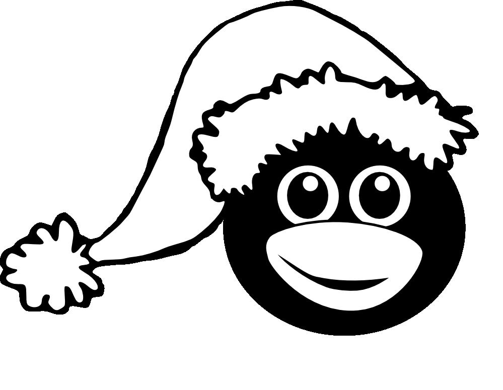 Christmas Penguin Clipart Black And White  Clipart Panda