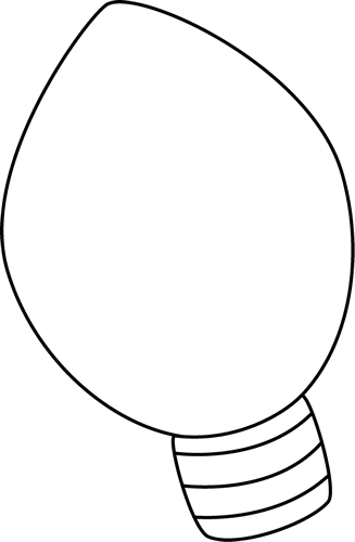 Black  White Christmas Light Clip Art  Black  White