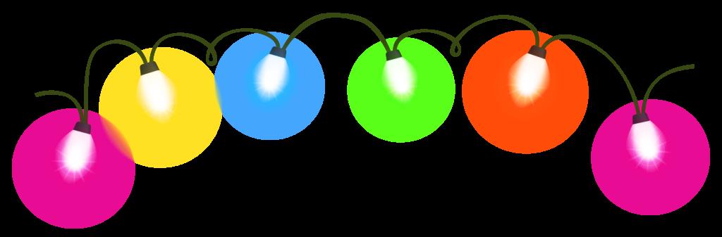 Transparent christmas lights clipart 2  Clipartix