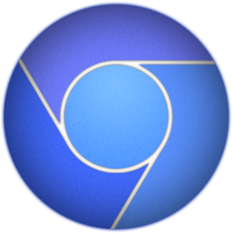 Blue Google Chrome Icon by Alsay on DeviantArt