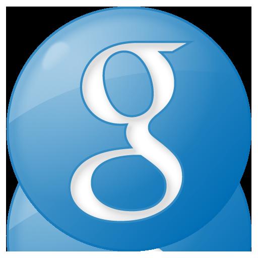 Social google button blue Icon  Social Bookmark Iconset