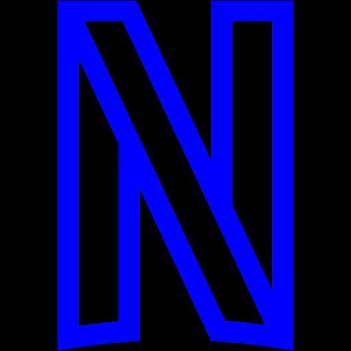Blue netflix icon  Free blue site logo icons