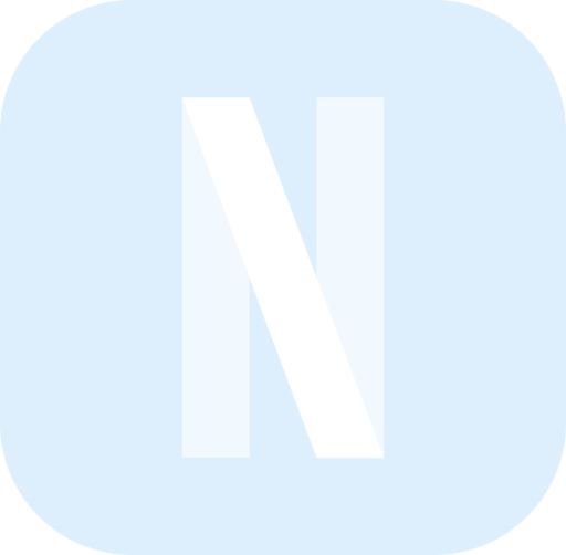 Icono Netflix logotipo streaming Gratis de ios 14 blue app