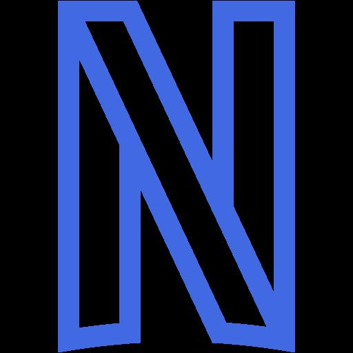 Royal blue netflix icon  Free royal blue site logo icons