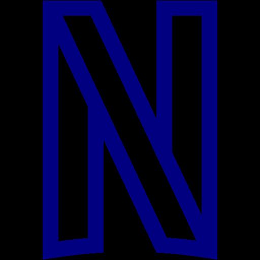 Navy blue netflix icon  Free navy blue site logo icons