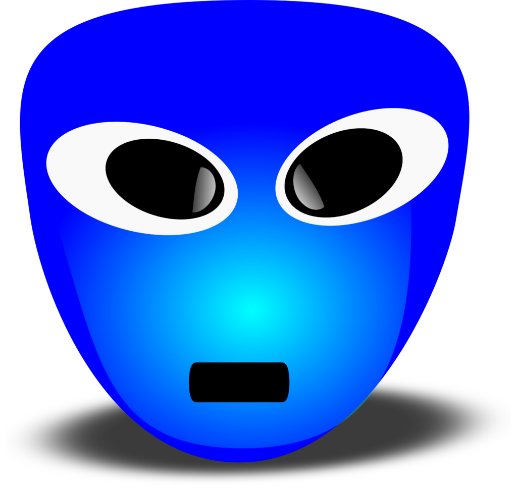 Free 3D Extra Terrestrial Smiley Face Clipart Illustration