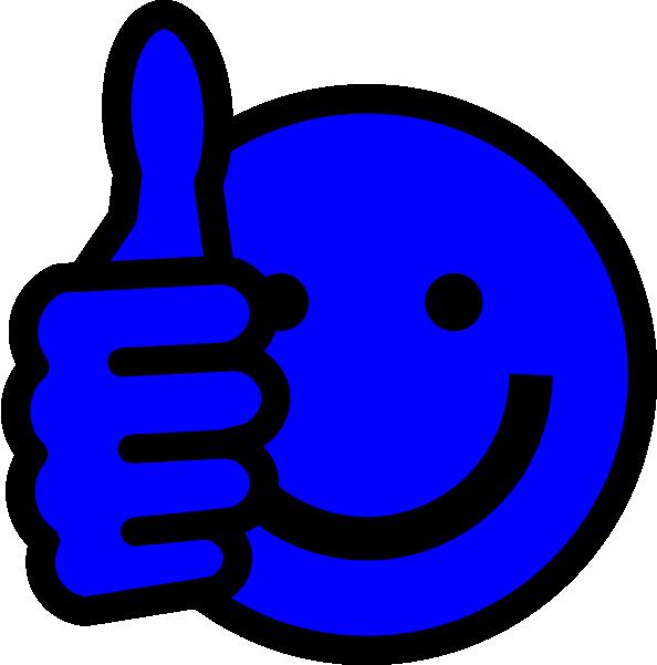 Blue Thumbs Up Clip Art at Clkercom  vector clip art