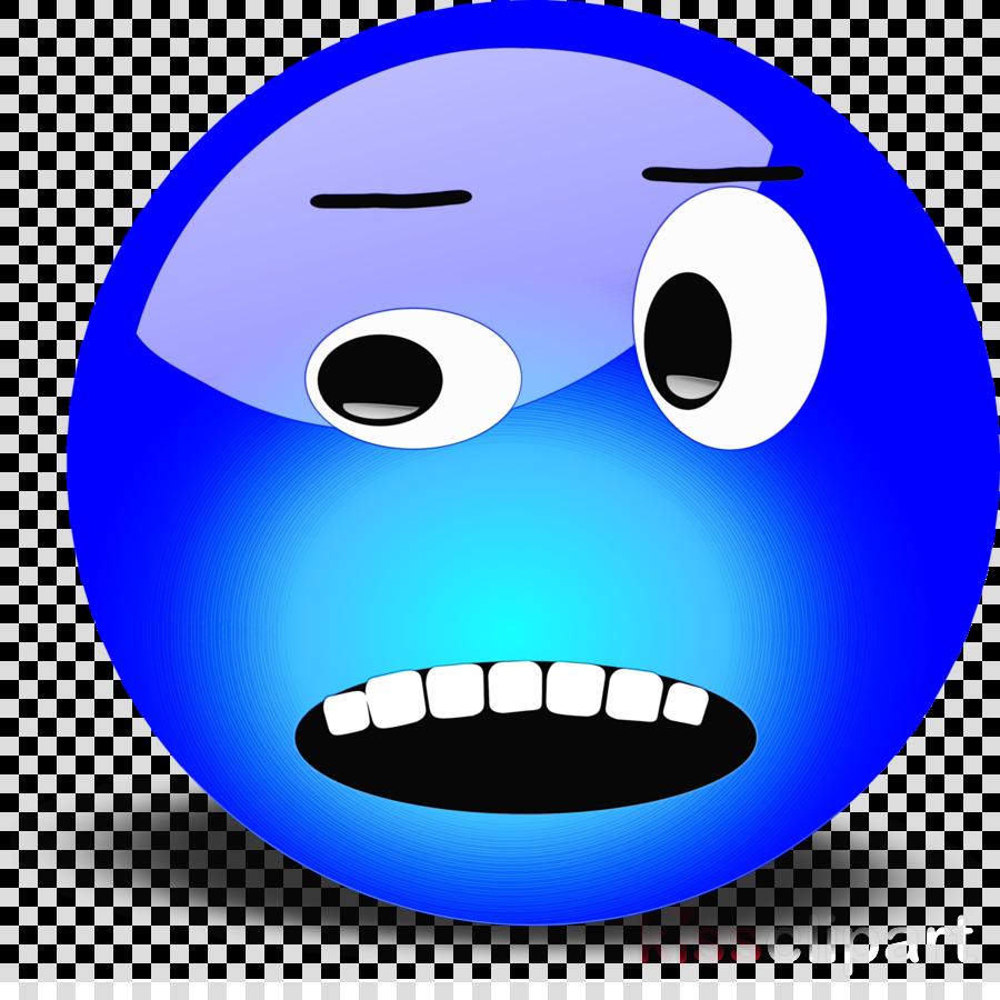 Emoticon clipart  Emoticon Face Blue transparent clip art