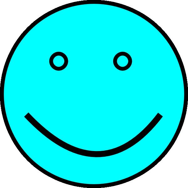Light Blue Face Clip Art at Clkercom  vector clip art