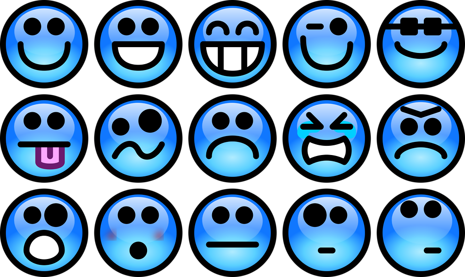 Smiley  Free Stock Photo  Collection of blue smiley