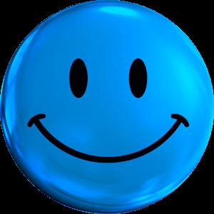 Blue Smiley Face Png  Clipart  Blue emoji Emoji happy