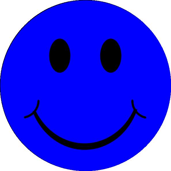 Blue Smiley Face Clip Art at Clkercom  vector clip art