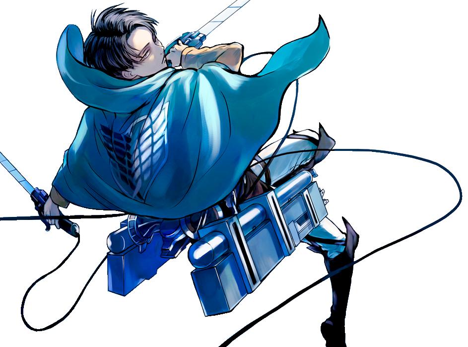 Lance Corporal Levi Render 3 Blue by xryuchan  Levi