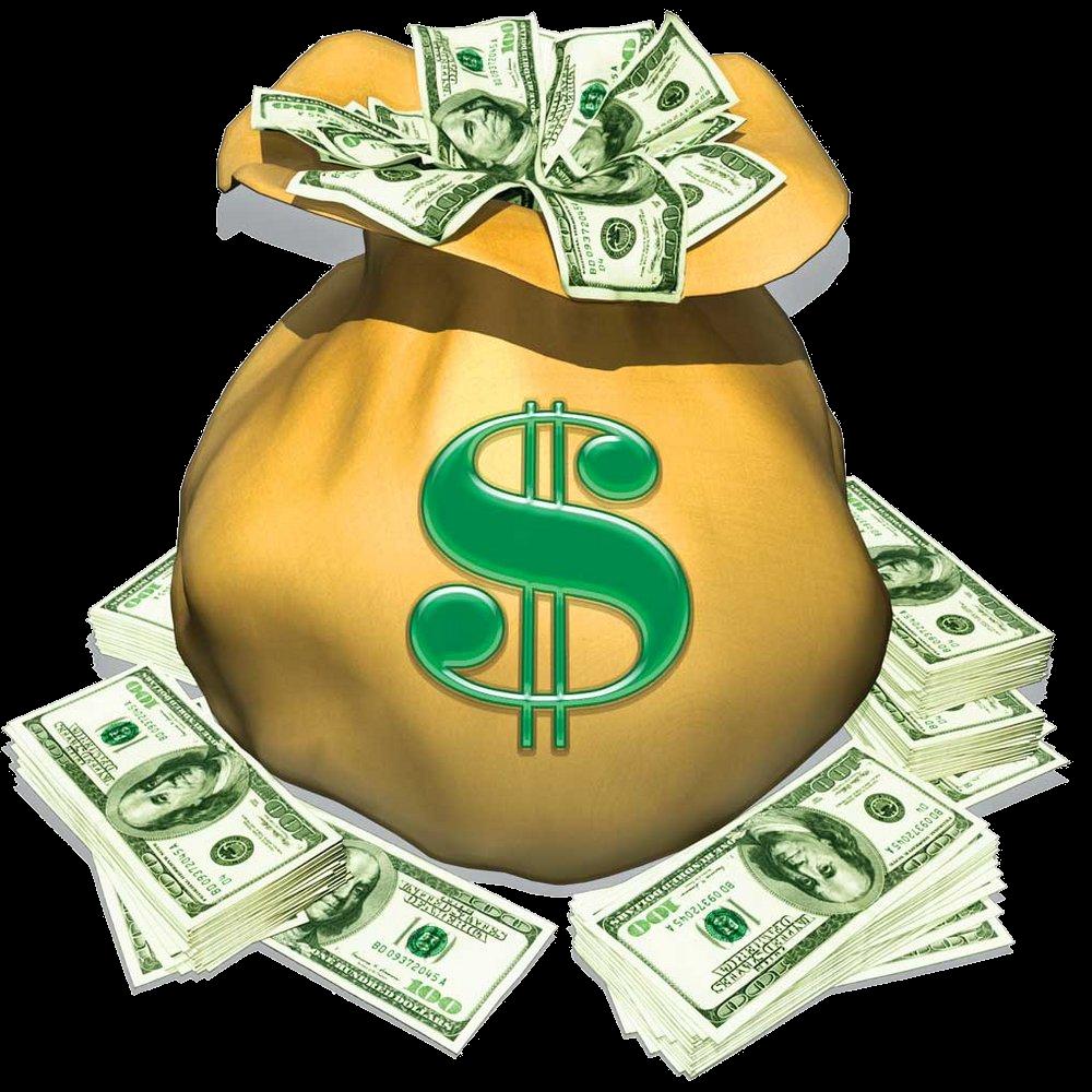 Cash clipart money bag Cash money bag Transparent FREE