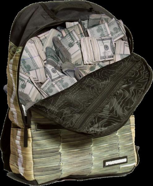 Money-stacks-backpack (PSD) | Official PSDs - Cash Money Bag