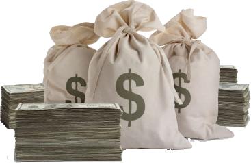 Cash Money Stacks Money Bags PSD  Official PSDs