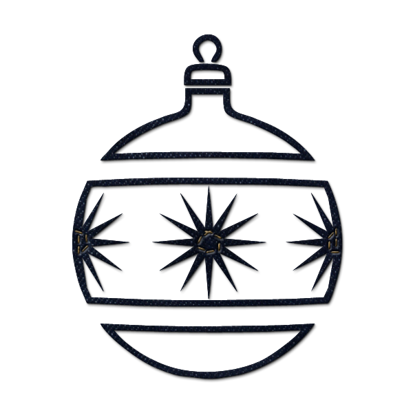 christmas tree ornaments clipart black and white 20 free