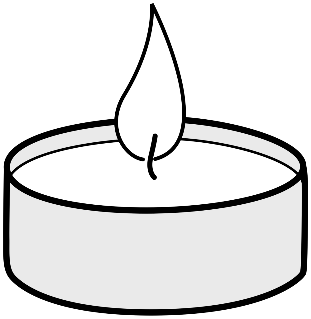 Votive Candle Png Black And White  Free Votive Candle