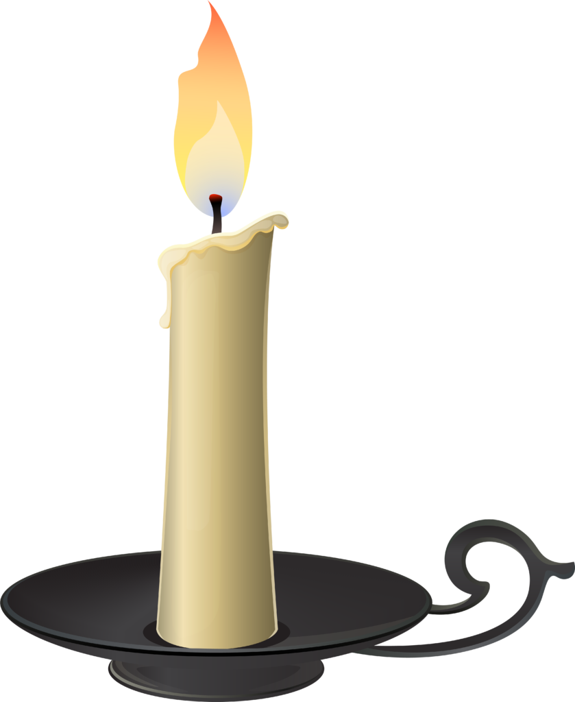Candlestick Png Clip Art  Candle In Holder Clipart