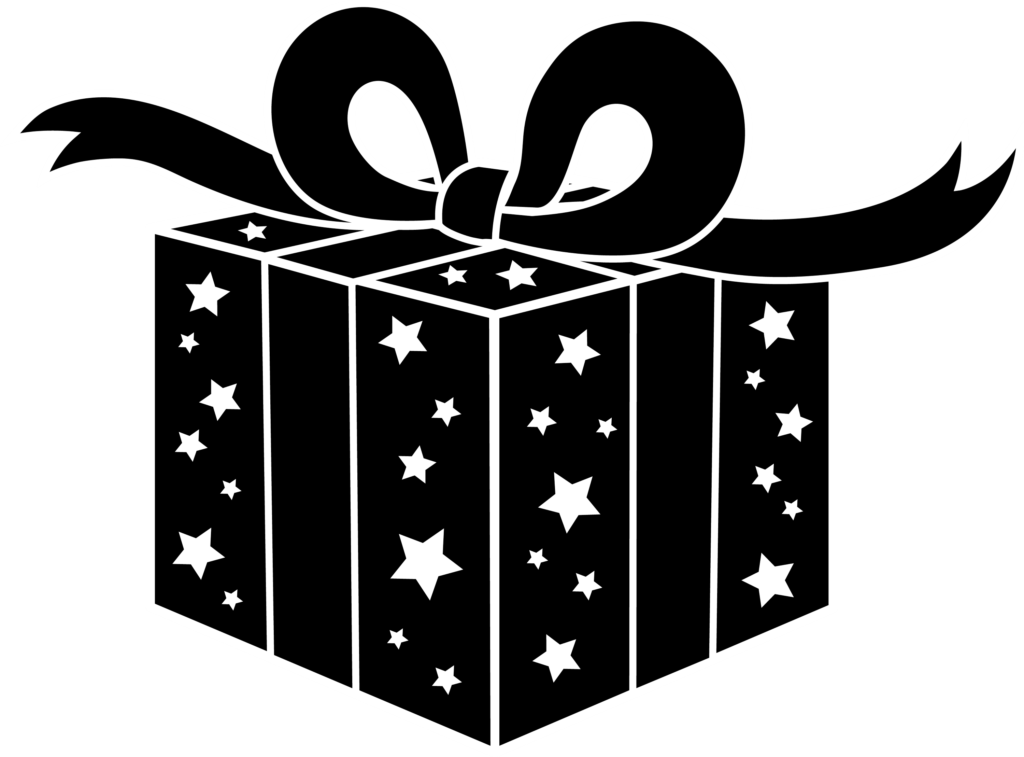 Black and White Party Gift  Free Clip Art