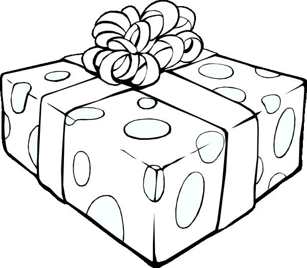 Gift Outline Clip Art at Clkercom  vector clip art