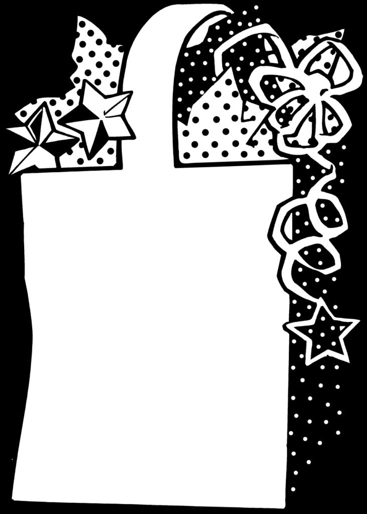 Present black and white present free a t bag 6 clip art