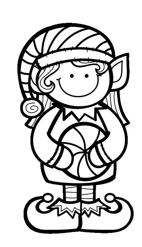 Gnome clipart black and white Gnome black and white
