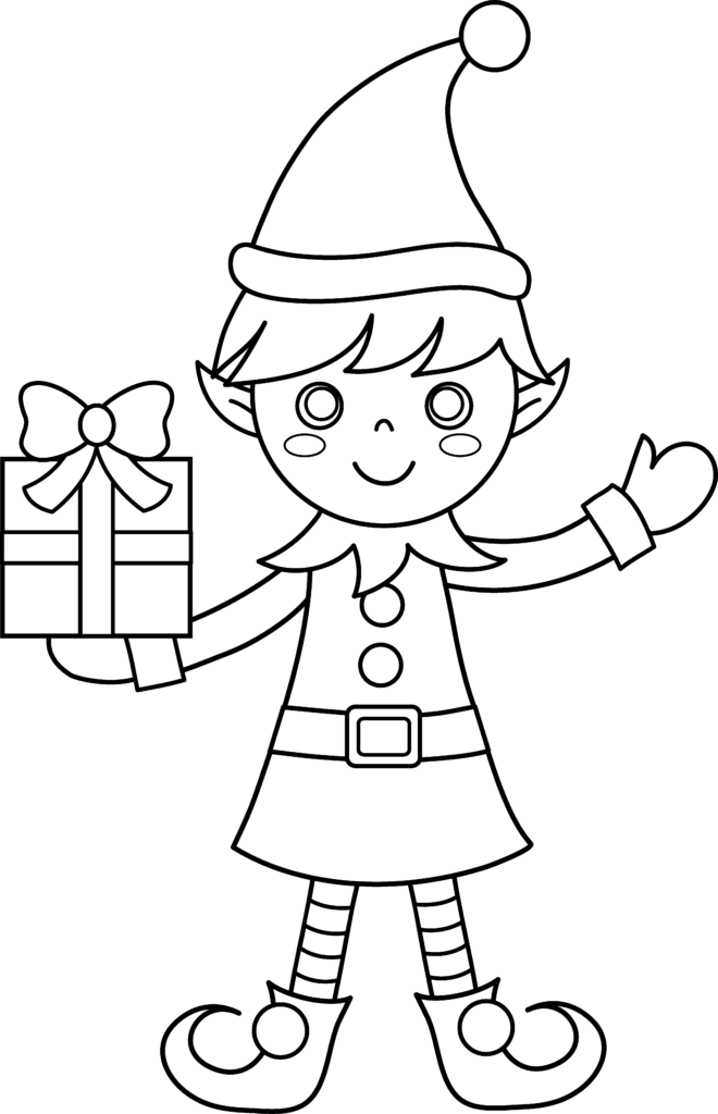 Collection of Elf PNG Black And White  PlusPNG