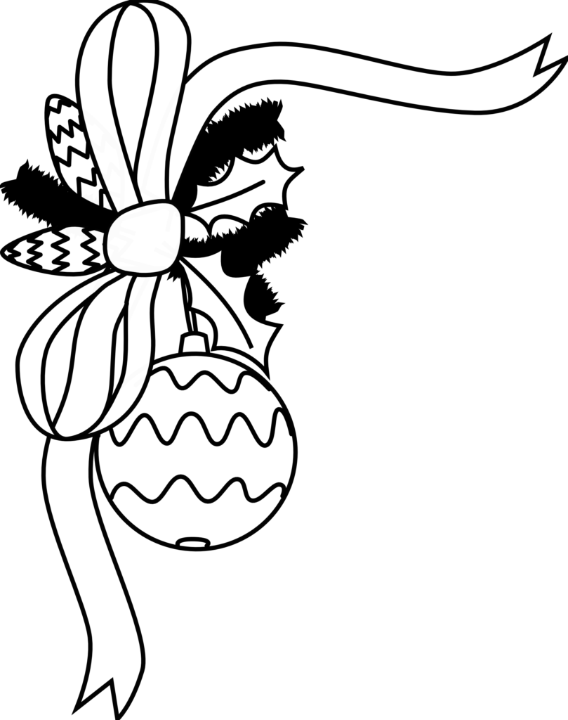 Black And White Holiday Clip Art  Clipartsco