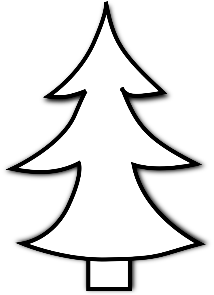 Best Christmas Tree Clipart Black And White 14636