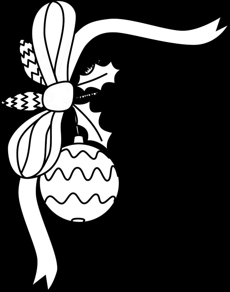 Christmas Clipart Black And White Border  Clipart Panda
