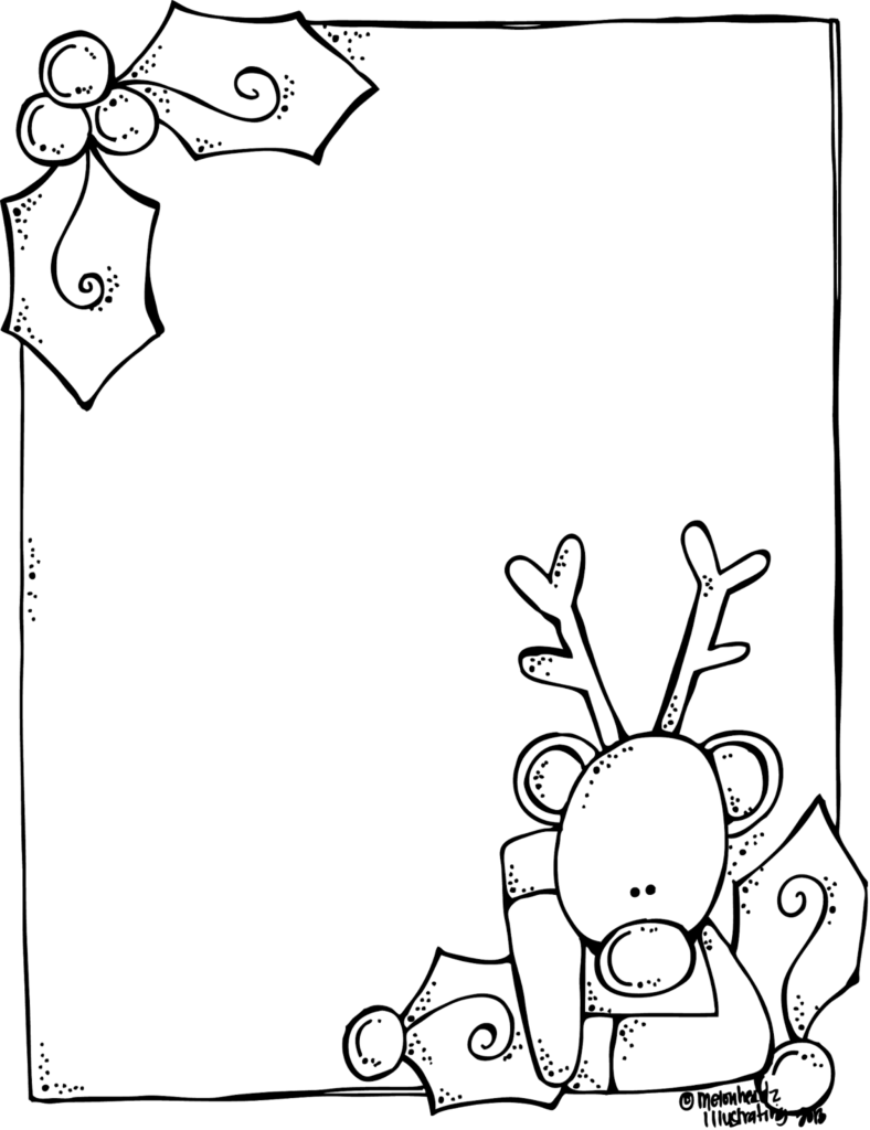 MelonHeadz A blank Rudolph letter form for Santa And it