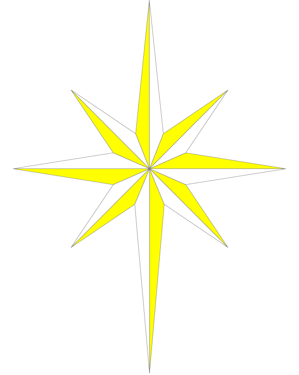 Library of png black and white library star of bethlehem