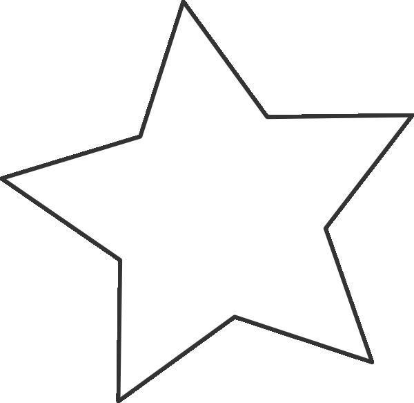 White Star Black Clip Art at Clker.com - vector clip art ... - Christmas Star Clip Art Black and White
